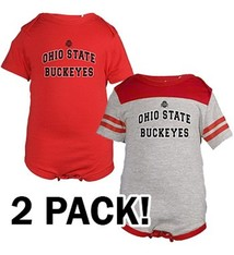 Ohio State University Tommy 2 Pack Onesies