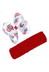 Ohio State University Crochet Headband With Bow
