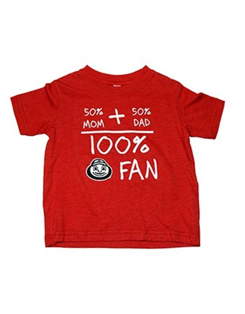 Ohio State University 50% Mom + 50% Dad = 100% Fan Toddler Tee