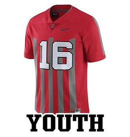 Nike Ohio State University Youth Replica #16 Stripe Jersey