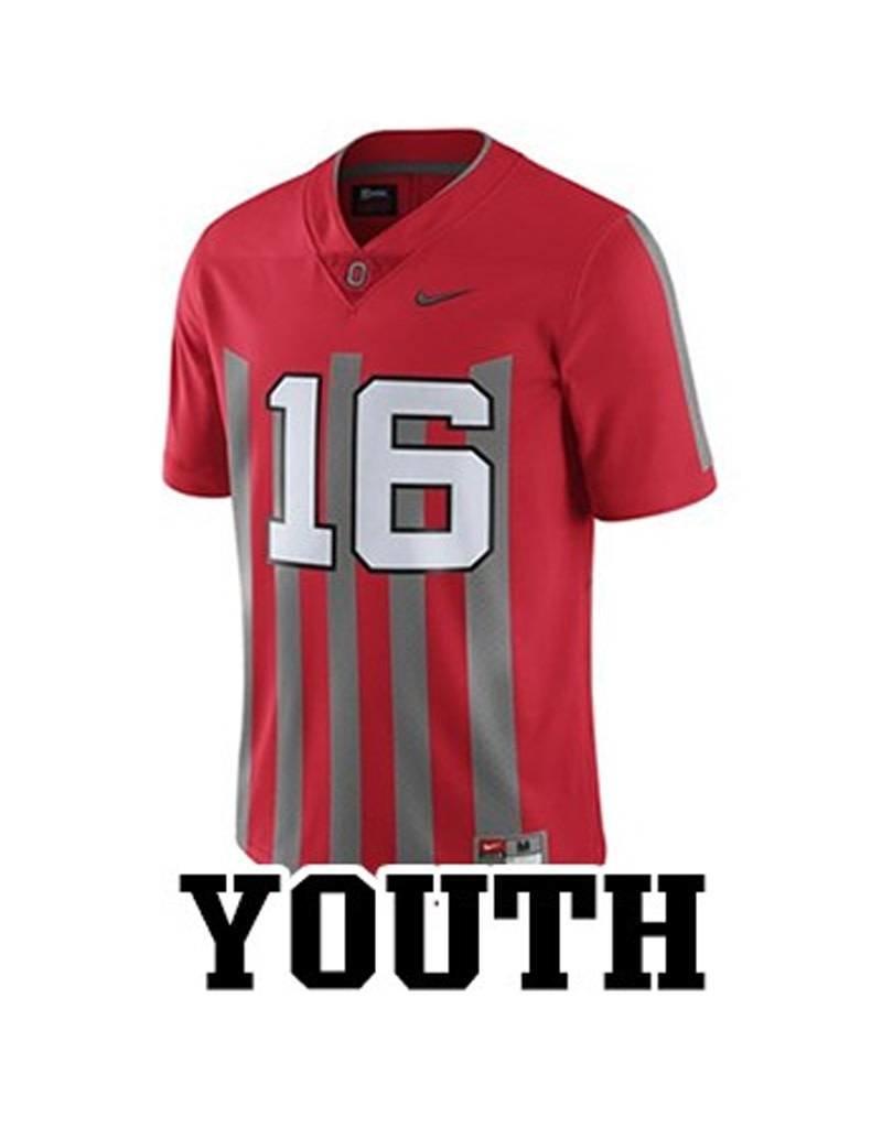 Nike Ohio State University Youth Replica #16 Stripe Jersey