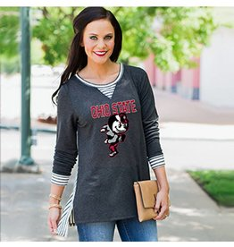 "Gameday Couture Ohio State University ""You'll Be Back"" Oversized Tunic"