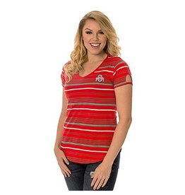 Ohio State University Tailgate Striped Tee
