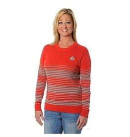 Ohio State University Striped Sweater