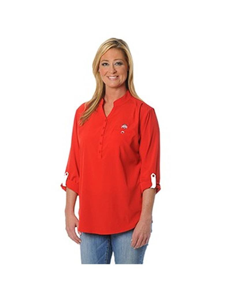 Ohio State University Classic Button Down Tunic