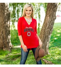 Gameday Couture Ohio State University Weekend Must Have Deep V