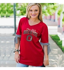Gameday Couture Ohio State University Get In The Game Tie Sleeve Jersey