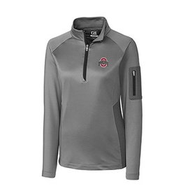 Cutter & Buck Ohio State University Women's Shaw Hybrid Half Zip