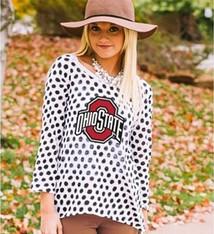 Gameday Couture Ohio State University Women's Polka Dot Sweater