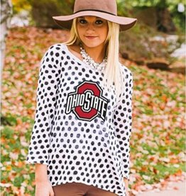 Gameday Couture Ohio State University Women's Polka Dot Sweater
