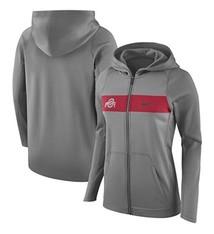 Nike Ohio State University Nike Women's Charcoal Performance Full-Zip Hoodie