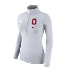 Nike Ohio State Women's  White Half-Zip Pullover