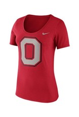 Nike Ohio State University Short Sleeve Block O Scoop Neck