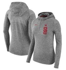 Nike Ohio State Women's Quarter-Zip Pullover Hoodie