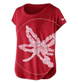Nike Ohio State University Women's Reward Leaf Scoop Tee