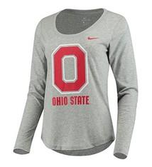 Nike Ohio State University Women's Long Sleeve Tri-Blend T-Shirt