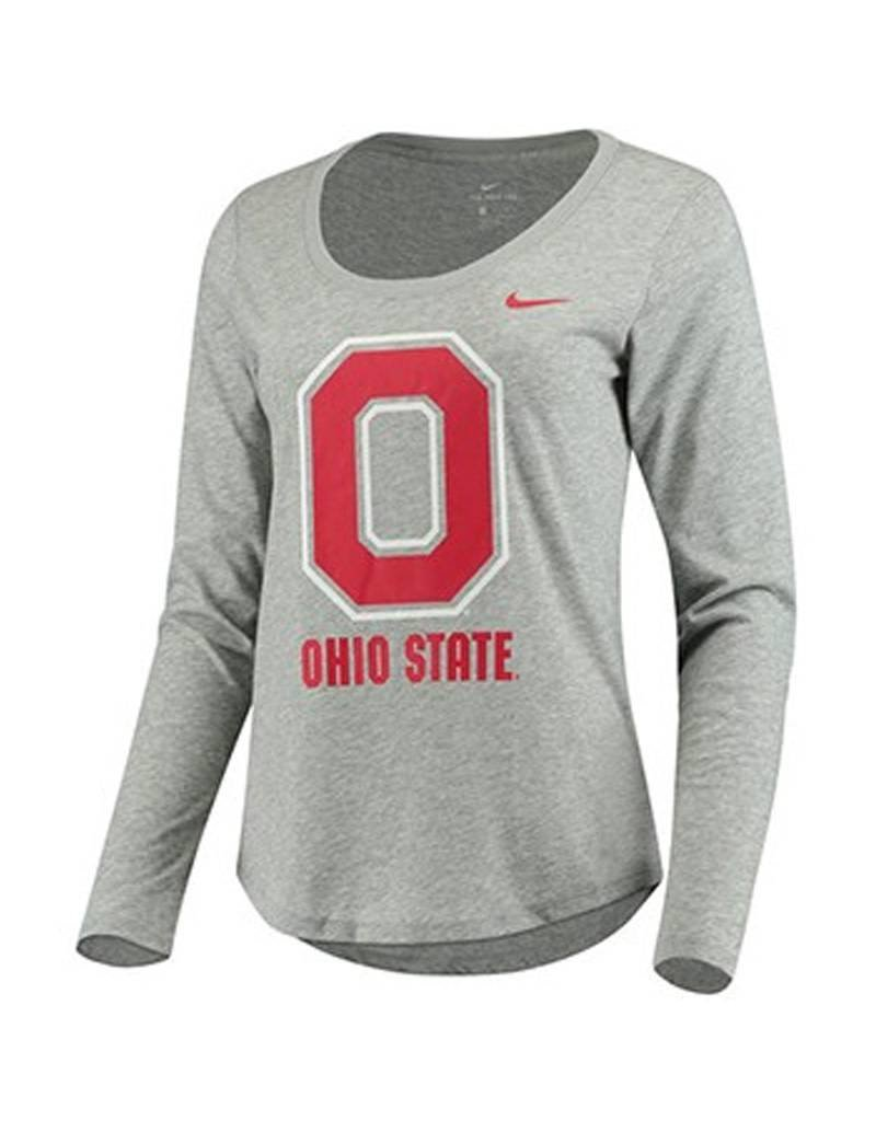 Nike Ohio State University Women's Long Sleeve Tri-Blend T-Shirt
