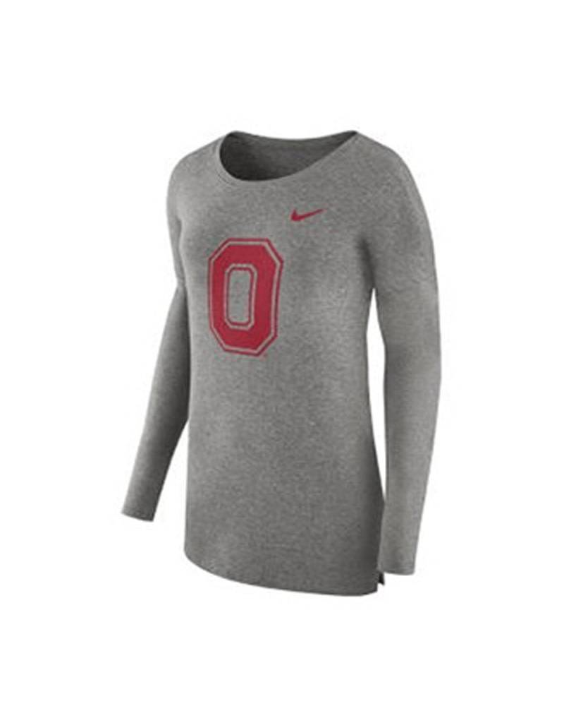 Nike Ohio State University Women's Cozy Long Sleeve T-Shirt