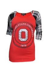Gameday Couture Ohio State University Women's 1870 Dolman Raglan Tee