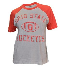 Top of the World Ohio State University Women's Vintage Raglan Tee