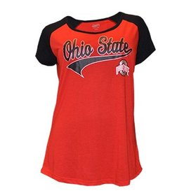 Top of the World Ohio State University Women's Baseball Tee
