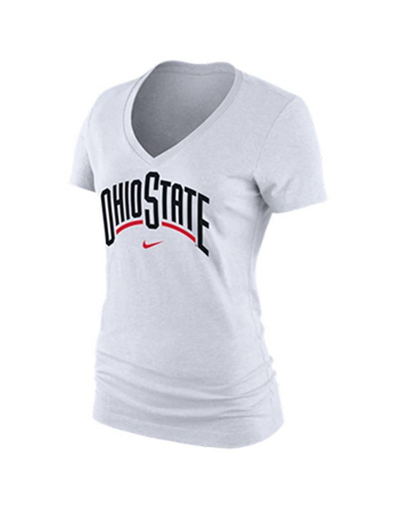 Nike Ohio State University Women's Arch Cotton V-Neck Tee