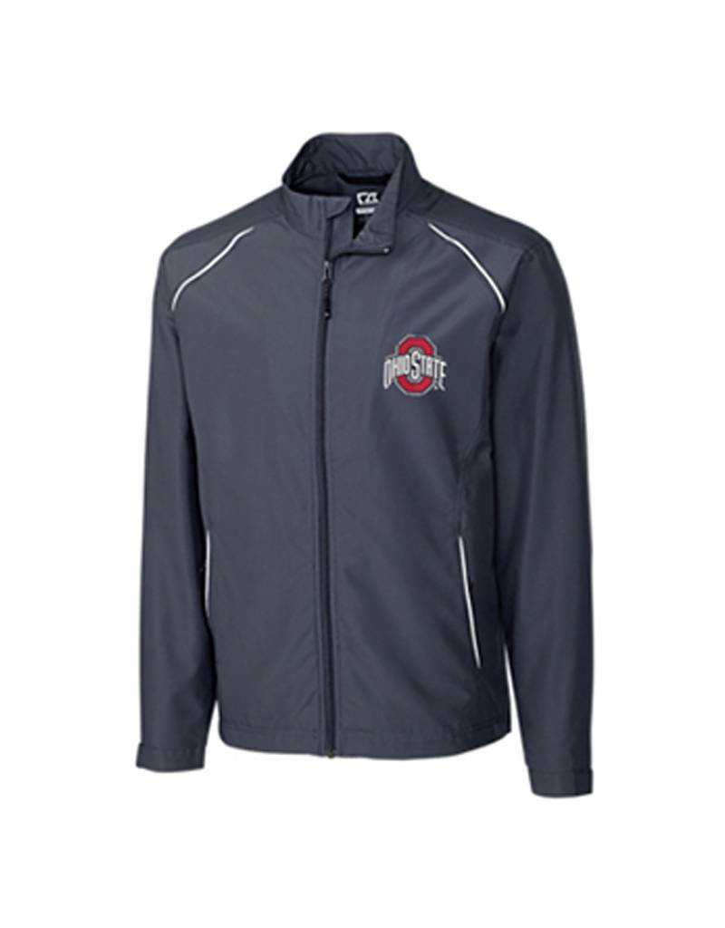 Cutter & Buck Ohio State University Men's BIG & TALL Beacon Full Zip Jacket