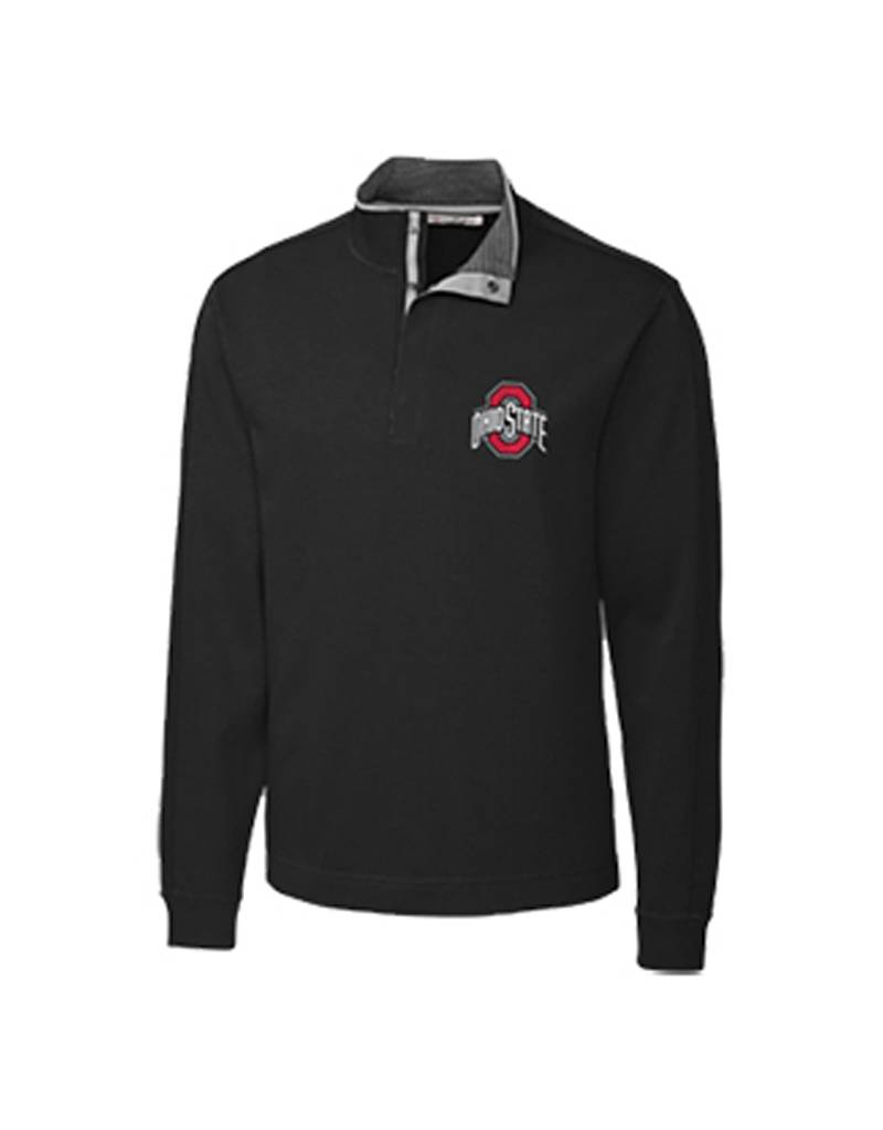 Cutter & Buck Ohio State University Big & Tall Pima Snap Placket Overknit