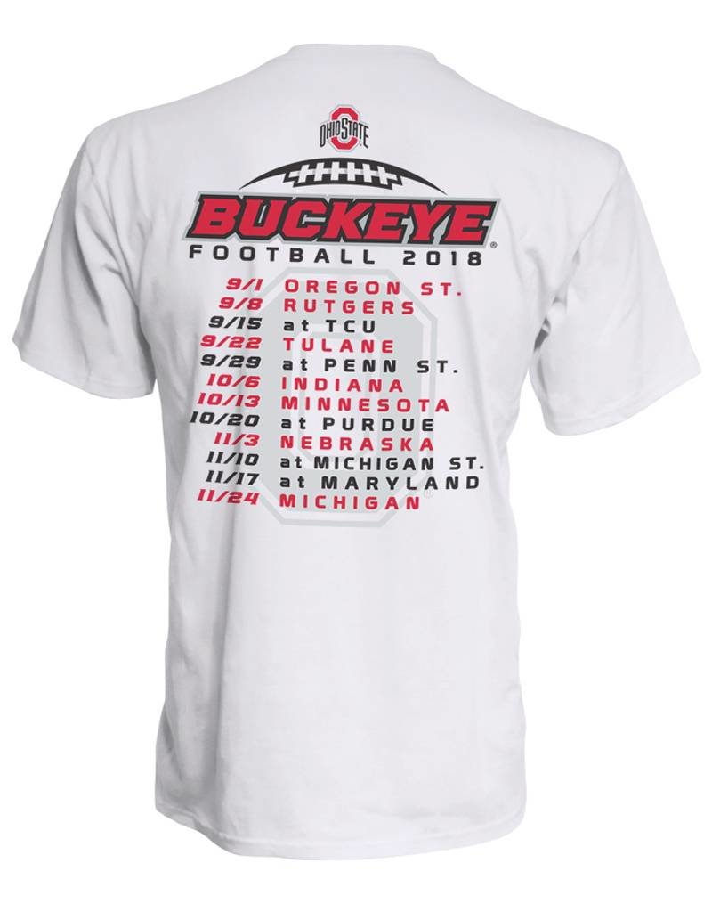 Top of the World Ohio State University 2018 Football Schedule Plus Tee