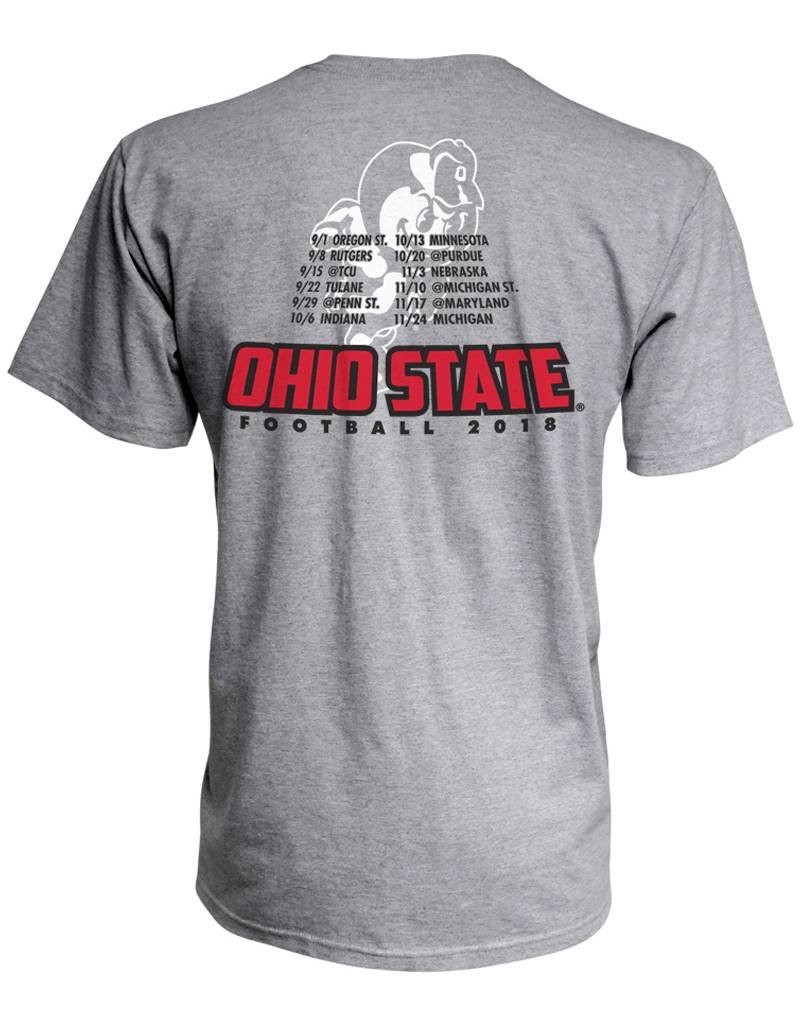 Top of the World Ohio State University Plus Size 2018 Football Schedule T-Shirt