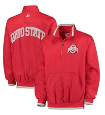 Starter Ohio State University Plus Size Starter 1/2 Zip Jacket (3X)