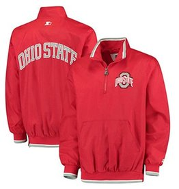 Starter Ohio State University Plus Size Starter 1/2 Zip Jacket