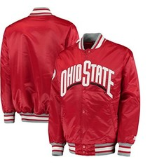 Starter Ohio State University Plus Size Starter Button Jacket (4X)