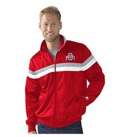 Starter Ohio State University Plus Size Full Zip Racer Jacket