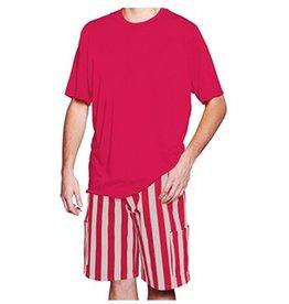 Scarlet & Grey Striped Cargo Shorts