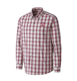 Cutter & Buck Ohio State University North Point Plaid Buttondown