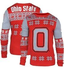 Ohio State University Block O Ugly Christmas Sweater (Medium)