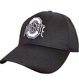 Top of the World Ohio State University Black Hat with White Logo