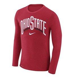 Nike Ohio State University Marled Arch Long Sleeve Tee