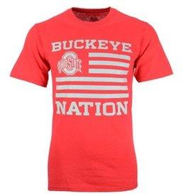 Top of the World Ohio State University Buckeye Nation Flag Tee