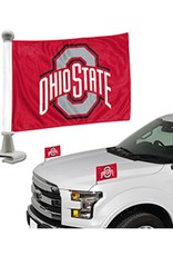 Ohio State University 2PK Mini Car Flag