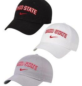 Nike Ohio State University Nike Heritage 86 Wordmark Swoosh Adjustable Hat