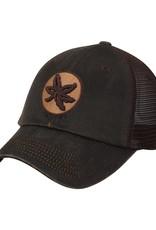 Top of the World Ohio State Buckeyes Chesnut Waxed Cotton Trucker Adjustable Hat
