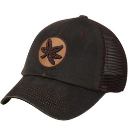 Top of the World Ohio State Buckeyes Chestnut Waxed Cotton Trucker Adjustable Hat