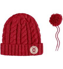 Nike Ohio State University Nike Women's Cuffed Knit Hat with Pom