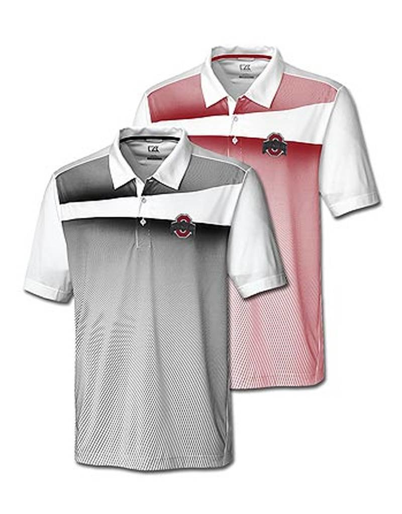 """Cutter & Buck Ohio State Buckeyes Athletic O """"Ascend"""" Print Polo"""