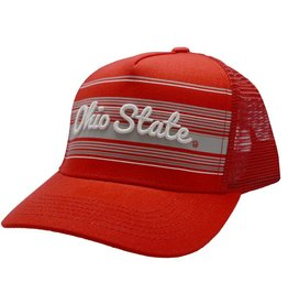 Top of the World Ohio State Script Iron Red Trucker Snapback