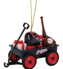 Cleveland Indians Team Wagon Ornament