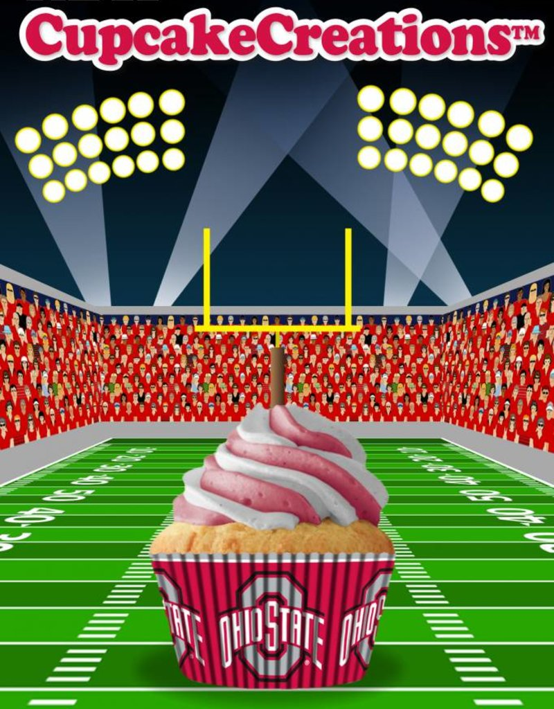 Ohio State University 32 Count Baking Cups