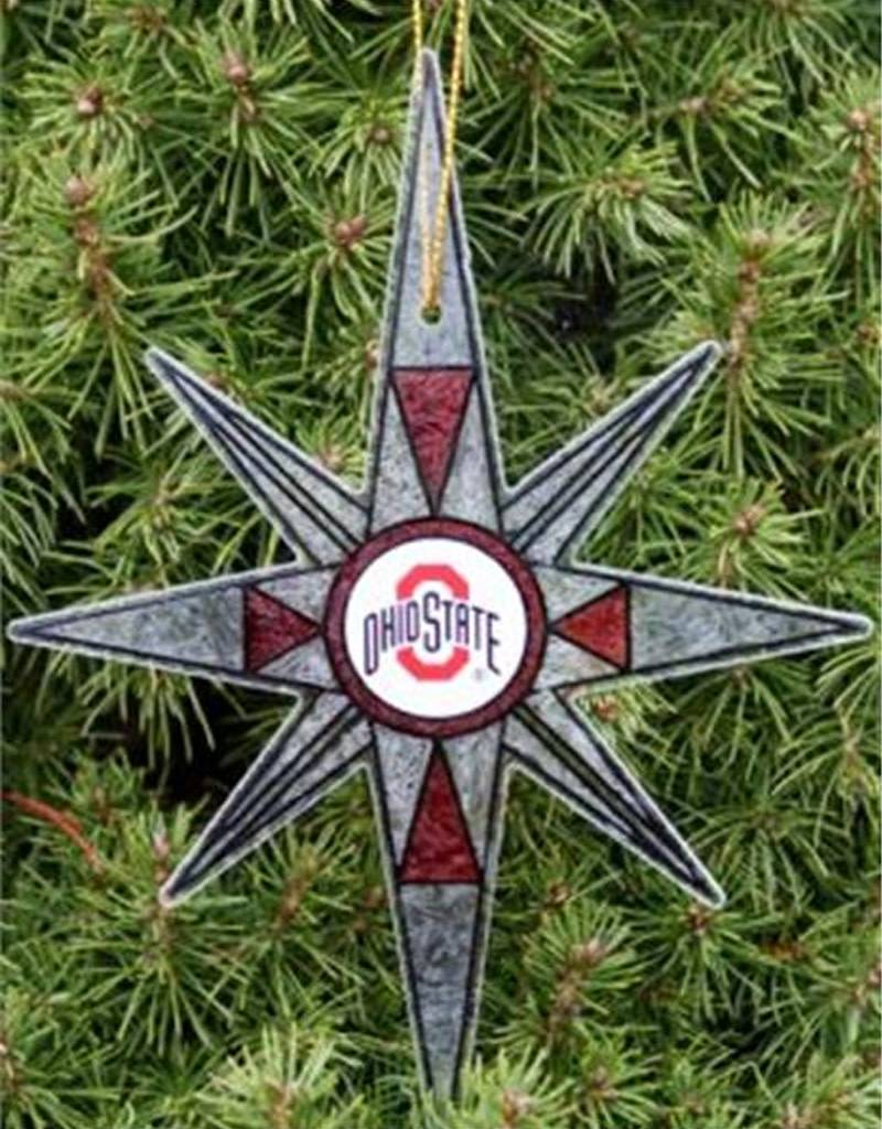 STAIN GLASS SNOWFLAKE ORNAMENT - Everything Buckeyes
